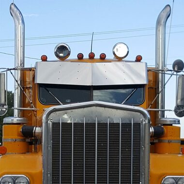13 Quot Kenworth W900a Drop Visor Stainless Steel Raney S