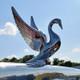 Chrome Swan Truck Hood Ornament On Truck