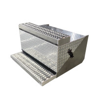 Peterbilt 379 388 389 Aluminum Diamond Plate Battery Box