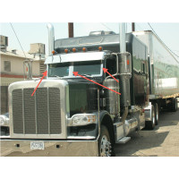 Peterbilt 379 388 389 SS Extra Wide Windshield Trim