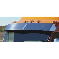 "Peterbilt 387 587 Sleeper Truck 20"" Drop Visor On Orange Truck"