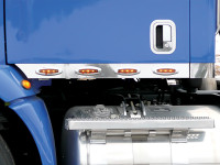 Peterbilt 387 Day Cab Stainless Steel Cab Panels With Crew LEDs