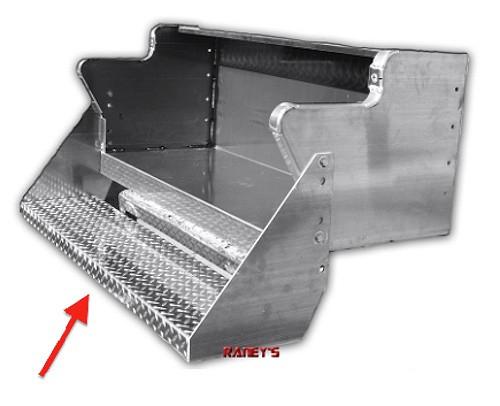 Kenworth W900 Battery / Tool Box Bottom Step Aluminum Finish