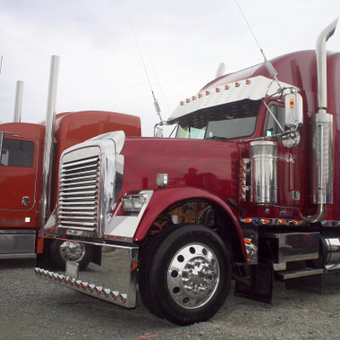 Freightliner Fld 120 Classic Hood Grill Stainless Steel