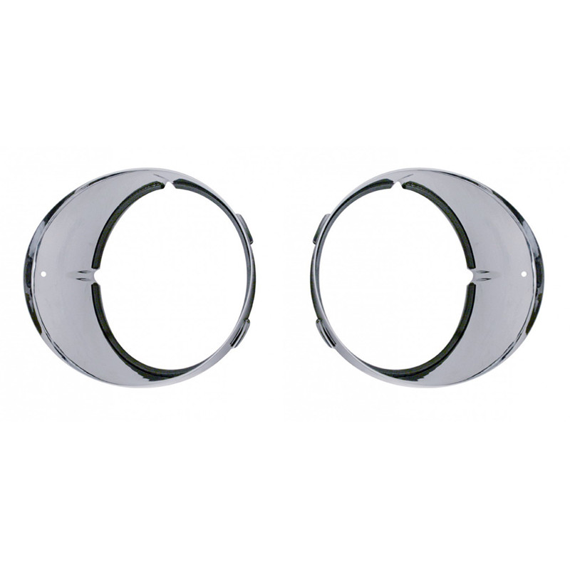 Freightliner Century Chrome Inner Headlight Bezels