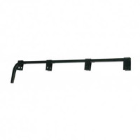Black Straight Mud Flap Hanger - Default