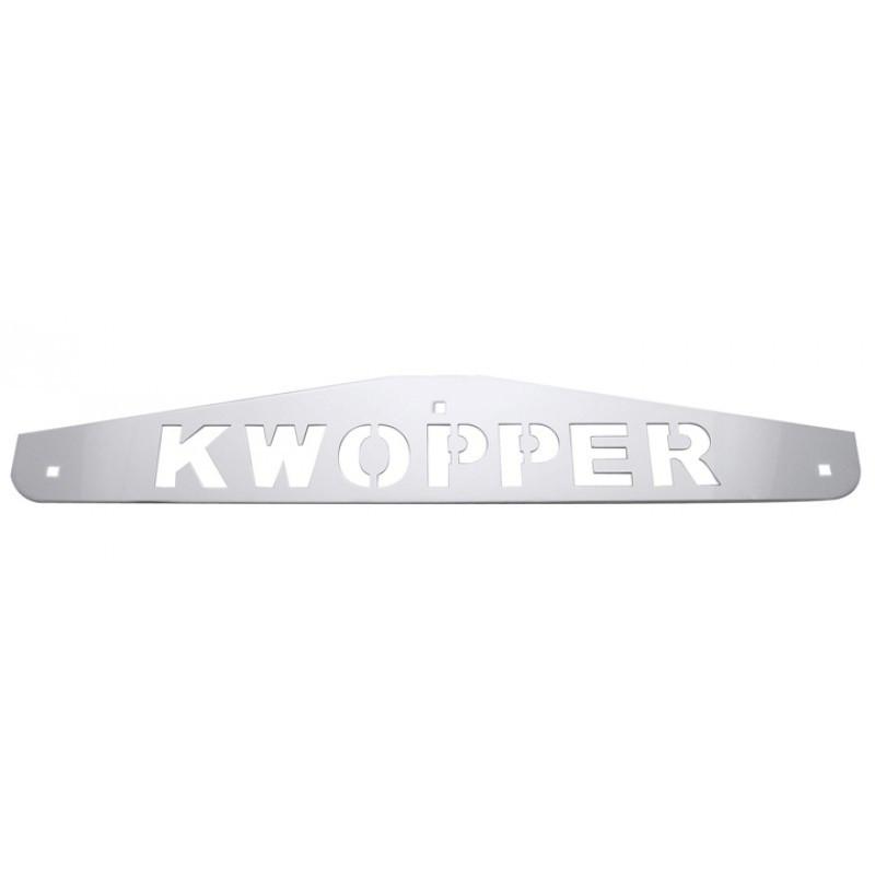 Kwopper Chrome Bottom Mud Flap Weight