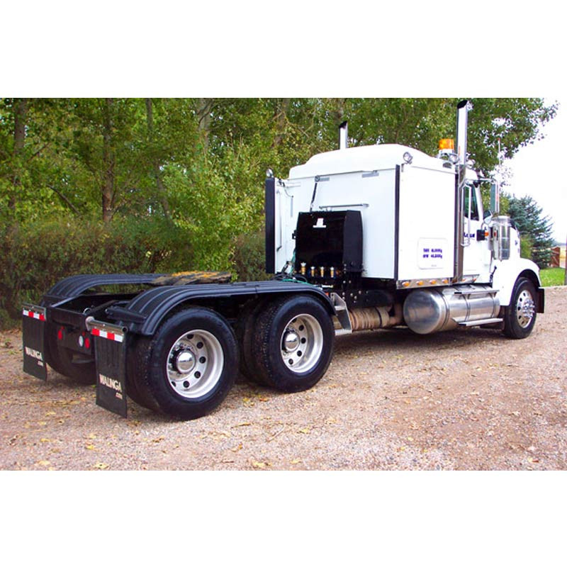 Minimizer Poly Truck Fenders Tandem Axle Black The Work Horse 4000 Series On Truck