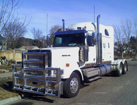 "Minimizer Poly Truck Fenders Tandem Axle Galvanized Color 54"" Spread"