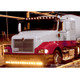 "International 9000i Series 13"" Drop Visor For Curved Windshield On Truck: Amber Lights"