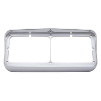 Rectangular Dual Headlight Bezel w/ Visor
