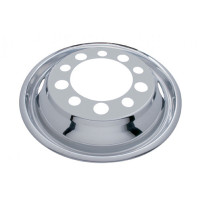 "Front Wheel Cover For 22.5"" Stud Piloted Wheels With 1.5"" Lug Nuts And 2 Hand Holes"