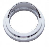 Freightliner Small Chrome Plastic Gauge Cover with Visor - Classic Design Edition