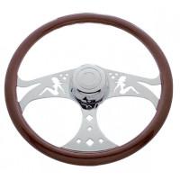 "18"" Chrome Lady Steering Wheel"