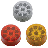 "2"" Round Reflector Clearance Marker Light 9 LED"