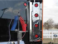 Peterbilt 389 Sleeper Corner Filler Panels with LED Lights By Valley Chrome