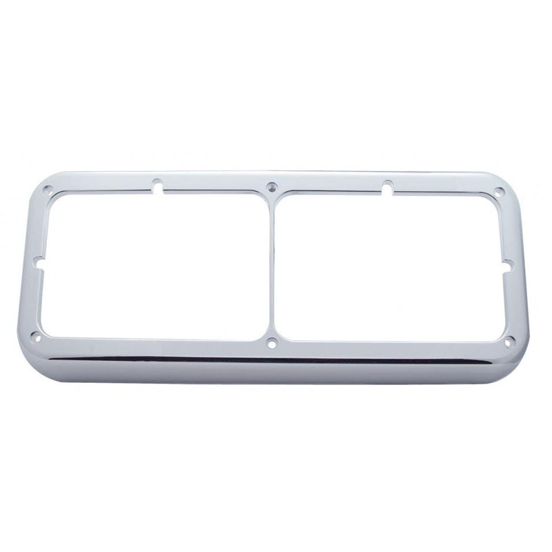 Rectangular Dual Headlight Bezel Without Visor