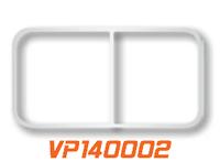 "Peterbilt 70"" Sleeper Window Trims Stainless Steel By Valley Chrome"