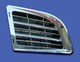 Mack Granite Chrome Air Intake Grill On Blue Truck