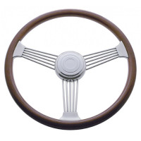 "Kenworth Peterbilt Steering Wheel Chrome 18"" Banjo Style With Hub Included"