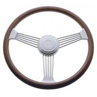 "Kenworth Peterbilt Steering Wheel Chrome 18"" Banjo Style With Hub Included"