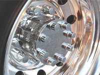 Gatling Gun Rear Axle Covers For Dana-Spicer & Rockwell Hubs With Stainless Steel Finish