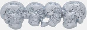 Chrome Skull Accent