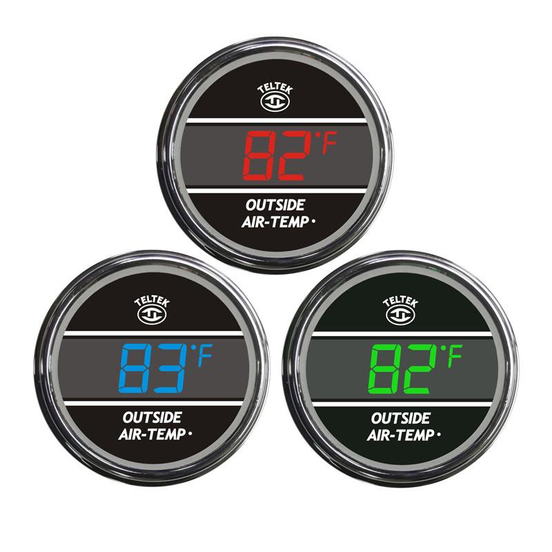Outside Air Temperature Truck TELTEK Gauge Color Display Options