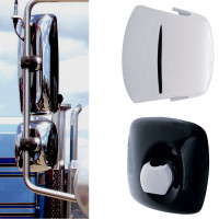 Freightliner Chrome Mirror Post Clamp Cover Multiple Views