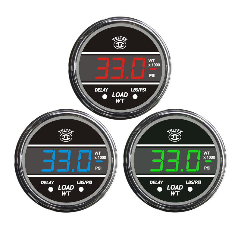 Truck Load Weight TelTek Gauge Display Color Options