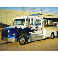 "Freightliner Turbo Wing for Mid Roof Integral Sleepers 58"" & 70"" - Side View"