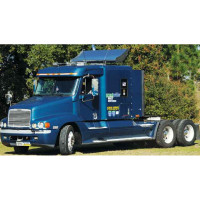 Freightliner Turbo Wing Kit for Standard Integral & Flat Top Sleepers - On Blue Truck