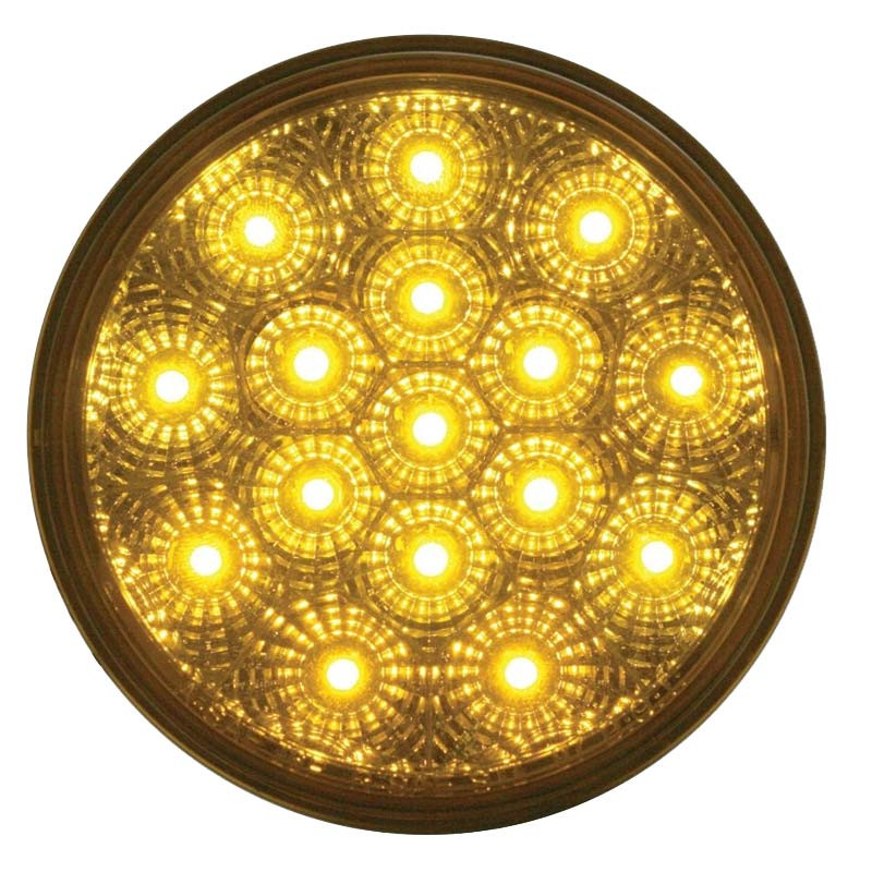 "16 LED 4"" Round PTC Lights - Reflector"