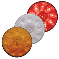 "10 LED 4"" Round STT And PTC Light"