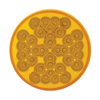 "36 LED 4"" Round PTC Light Amber - Reflector Amber Lens"