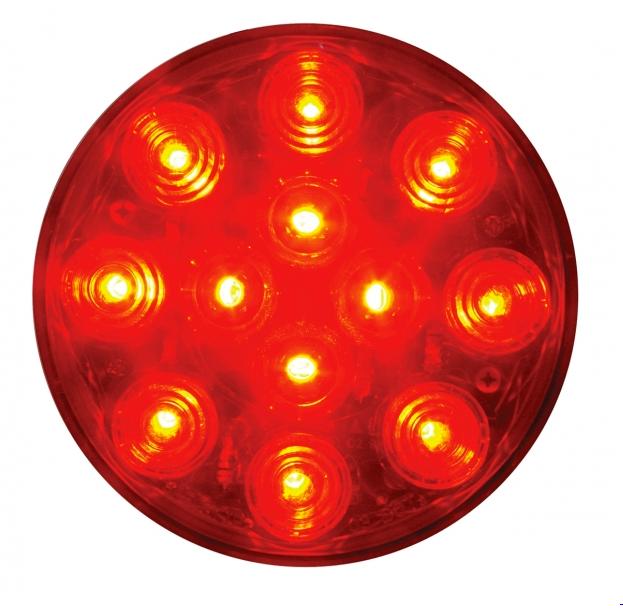 """12 LED 4"""" Round STT Light - Bubble Lens On"""
