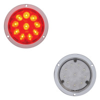"10 LED 4"" Round STT Light - Deep Dish"