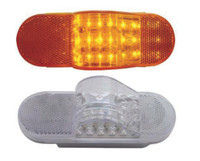 18 LED Mid-Trailer Turn Signal Light Amber and Clear Amber