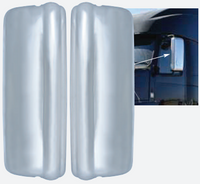 Volvo VNL 670 730 780 Chrome Mirror Covers On Truck