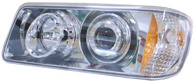 Freightliner FLD 120 112 Projector Headlights Angled