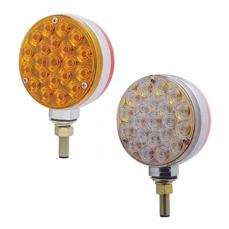 21 LED Double Face Turn Signal Light - Bubble Lens