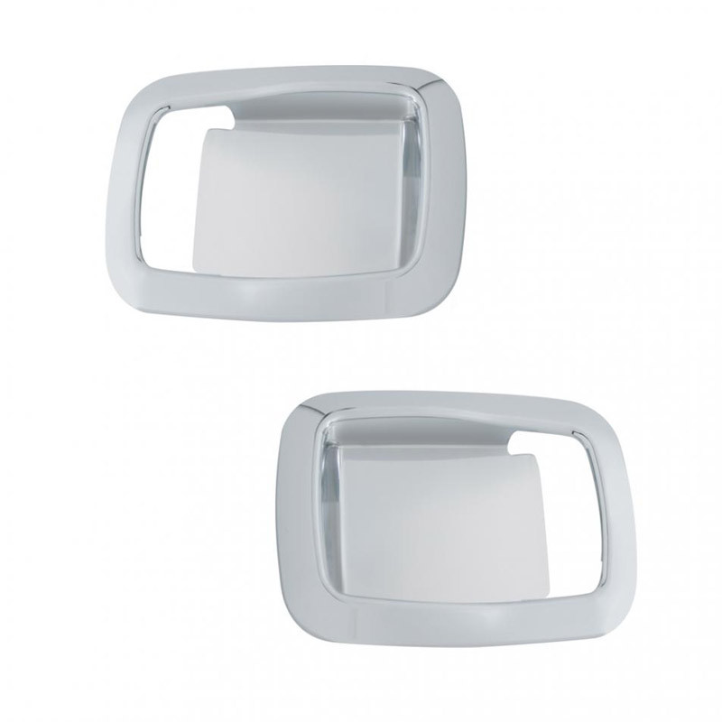 Kenworth Chrome Interior Door Handle Covers With Rounded Edges