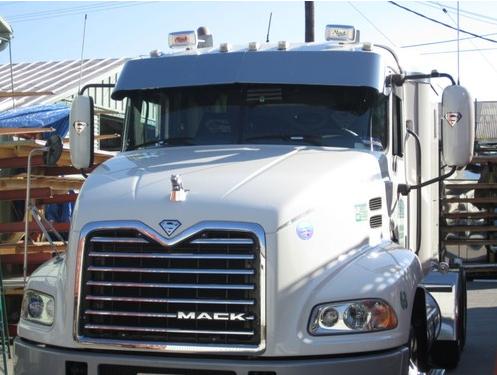 mack ch 13 stainless steel drop visor raney s truck parts rh raneystruckparts com