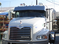 "Mack CH 13"" Stainless Steel Drop Visor"