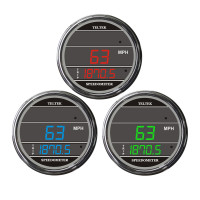Truck Speedometer TelTek Gauge Color Display Options