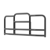 Peterbilt 378 379 ProTec Grill Guard (Black Steel, 15° Angle)