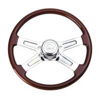 "International 18"" Chrome Economy Four Spoke Steering Wheel With Hub Included"
