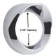 Chrome Speedometer Tachomater Gauge Cover