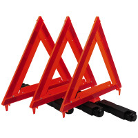 RoadPro Emergency Warning Triangle Kit with Storage Box 3 Triangles