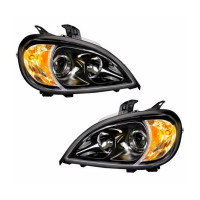 Freightliner Columbia Blacked Out Projection Headlight Pair Showcase Image